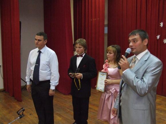 Александр Владимирович Выдря (заместитель директора по режиму) на церемонии награждения.