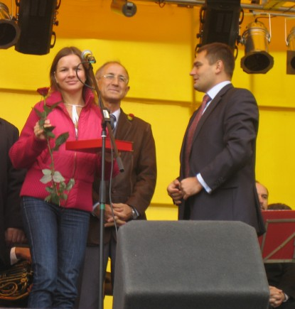 Мельник Людмила Сергеевна (руководитель отдела по связям с общественностью) на церемонии награждении.